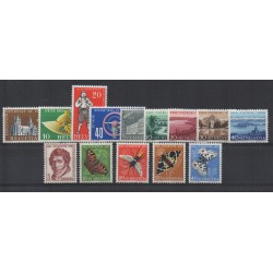 1955 SVIZZERA ITZERLAND ANNATA COMPLETA 14 VALORI MNH - NO BF15- MF28234