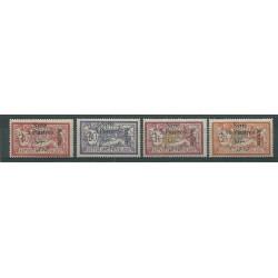 1924 SIRIA SYRIE SERIE POSTA AEREA SOPRASTAMPATA 4 V MLH YV N A18-A21 MF23347