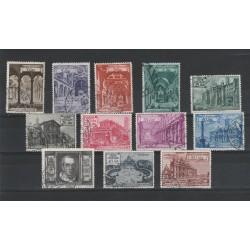 1949 VATICANO BASILICHE ROMANE 12 VALORI USATI MF55482
