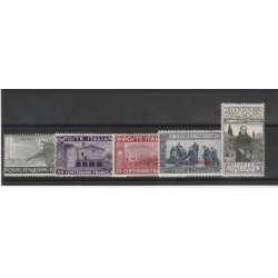 1926 TRIPOLITANIA SERIE SAN FRANCESCO 5 VALORI NUOVI MLH MF25329