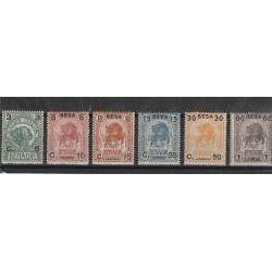 1922 SOMALIA SERIE DEF ELEFANTE E LEONE SOPRAST IN BESA 6 VAL MNH MF55493