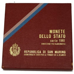 1981 SAN MARINO DIVISIONALE LA PACE 9 MONETE FDC MF24459