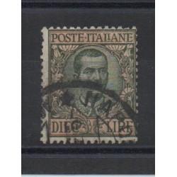 1910 REGNO ITALIA FLOREALE 10 LIRE OLIVA E ROSA 1 VAL USATO MF28437