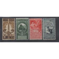 1911 REGNO UNITA  D ITALIA 4 VALORI NUOVI MLH MF17298