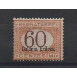 1926 ERITREA SEGNATASSE 60 CENT SOPRAST. IN BASSO N 25 MNH CILIO MF28424