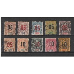 GRANDE COMORE 1912 DEFINITIVA SOPRASTAMPATA  10 V USATA MF55513