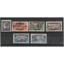 1925 GRAN- LIBANO  SOPRASTAMPATI BILINGUE  5 VAL  USATI  MF52545