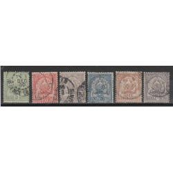 TUNISIA TUNISIE 1899-1901  STEMMA NUOVI COLORI  6 VAL USATI  YVERT 22-27 MF55519