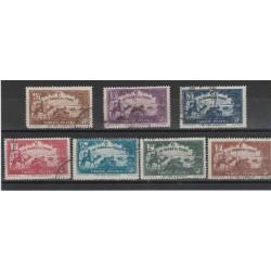 TUNISIA TUNISIE 1928 PRO INFANZIA 7 VAL USATI MF55518