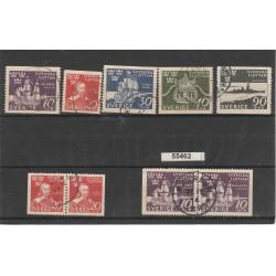 1944  SVEZIA MARINA SVEDESE 5 VAL + 2 COPPIE  USATO MF55462