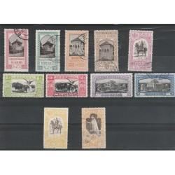1908 ROMANIA EXPO DI BUCAREST - 11 VALORI USATI UNIF N 197/207 MF54961