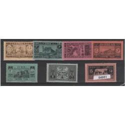 1925-31 SIRIA SYRIE SEGNATASSE VEDUTE 7 V MLH YV N 32/38 MF54951