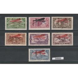 1929 SIRIA SYRIE ESPOSITION INDUSTRIELLE 7 V MNH YV N 43/49 MF54950