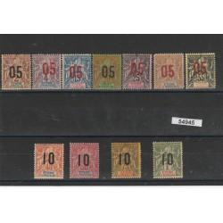 S PIERRE ET MIQUELON 1912 SOPRASTAMPATI  11 V MLH MF 54945