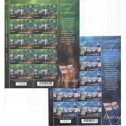 2004 GUERNSEY SERIE EUROPA - 2 MINIFOGLI NUOVI INTEGRI MNH MF28581