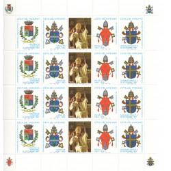 1997 VATICANO CENTENARIO NASCITA PAOLO VI MINIFOGLIO DI 4 V. MNH MF28225