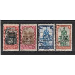 SUDAN SOUDAN FRANCESE 1941 SOCCORSO NAZIONALE 4 VAL MLH MF54966