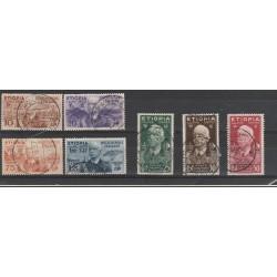 1936 ETIOPIA  EFFIGIE VITTORIO EMANUELE III 7 VAL USATI MF54985
