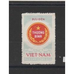 1958 VIETNAM DEL NORD  FRANCHIGIA PER INVALIDI 1 VAL MLH MF51015
