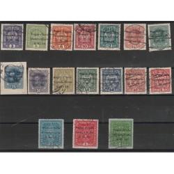 1918 TERRE REDENTE VENEZIA GIULIA  AUSTRA SOPRASTAMPATI SASS 1/17 USATI CAFFAZ MF55061