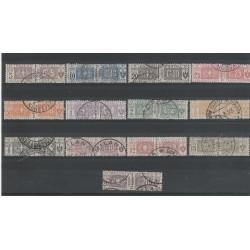 1914 - 22 REGNO PACCHI POSTALI  13 VAL USATI MF55090