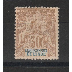 INDIA FRANCESE   1892 ALLEGORIA   1 VAL MLH MF55097