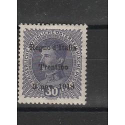 1918 TERRE REDENTE TRENTINO ALTO ADIGE 30H  S N 9 MLH MF55107