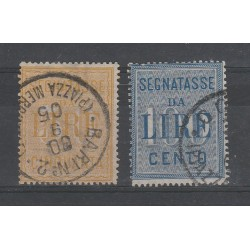 1903 REGNO SERIE SEGNATASSE 2 VALORI USATI MF55127