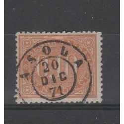 1869 REGNO ITALIA SEGNATASSE 10 CENTESIMI BRUNO ARANCIO USATO  MF55130