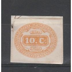 1863 REGNO ITALIA SEGNATASSE 10 CENTESIMI GIALLO ND SG  MF55131