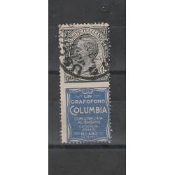 1924 ITALIA REGNO PUBBLICITARI 15 CENT COLUMBIA USATO MF27511