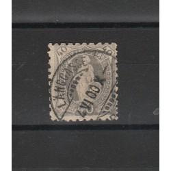 1888 SVIZZERA ALLEGORIA HELVETIA IN PIEDI DENT 9 1-2 1 VALORE USATO MF0553