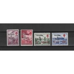1942 MONTENEGRO CROCE ROSSA SOPRASTAMPA IN ROSSO  4 VALORI MLH A DIENA 55182