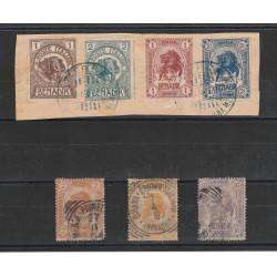 1903  SOMALIA  SERIE ELEFANTIE LEONI  7 VAL USATI  MF55177