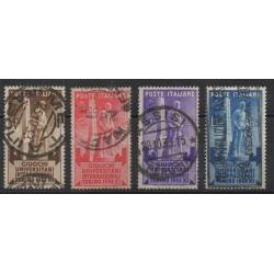 1936 REGNO SERIE SALONE AERONAUTICO  4  VALORI USATI MF53151