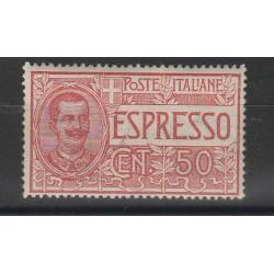 1920 REGNO ITALIA ESPRESSO 50 CENT SASSONE N 4 UN VALORE MNH MF55671