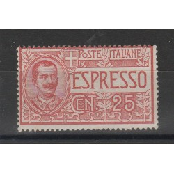 1903 REGNO ITALIA ESPRESSO 25 CENT SASSONE N 1 UN VALORE MNH MF55661