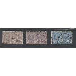 1913-23  REGNO POSTA PNEUMATICA 3 VAL USATI  MF55567