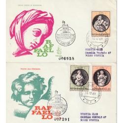 1969 FDC VENETIA SAN MARINO 112-1-2/SM SERIE RAFFAELLO VIRTU' TEOLOGALI MF81599