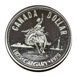 1975 CANADA DOLLAR 1875 - 1975 CALGARY SILVER PROOF IN CONFEZIONE MF28313