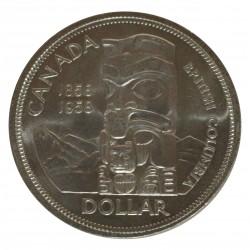 1958 CANADA DOLLAR BRITISH COLUMBIA SILVER ARGENTO 800/1000 MF28315
