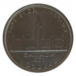 1939 CANADA DOLLAR ROYAL VISIT SILVER ARGENTO 800/1000 MF28319