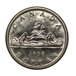 1957 CANADA DOLLAR INDIANI CANOA SILVER ARGENTO 800/1000 MF28321