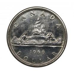1966 CANADA DOLLAR INDIANI CANOA SILVER ARGENTO 800/1000 MF28322