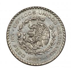 1966 MEXICO MESSICO PESO ARGENTO - SILVER ORIGINALE MF28289