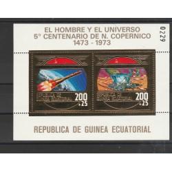 1974 GUINEA ECUATORIALE  COPERNICO  SPAZIO  1  BF MNH MF55689