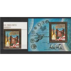1973 GUINEA ECUATORIALE  KENNEDY  SPAZIO 1 VAL + 1 BF MNH MF55690