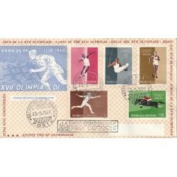 1960  FDC TRE STELLE SAN MARINO GIOCHI OLIMPICI DI ROMA MF81765