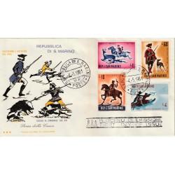 1961 FDC TRE STELLE SAN MARINO STORIA DELLA CACCIA MF81770