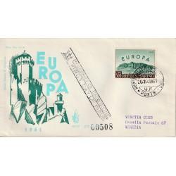 1961 FDC VENETIA SAN MARINO 62/SM EUROPA 1961 MF81771